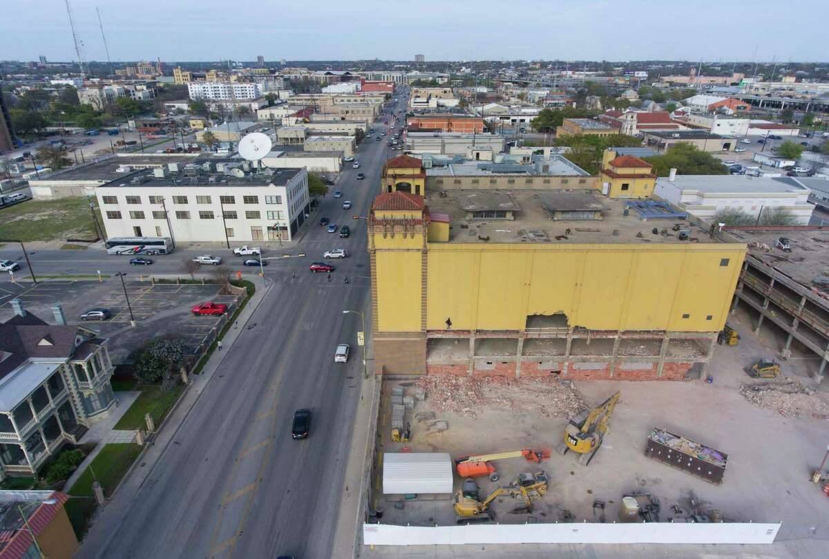 Developments along Broadway are seen Wednesday, March 14, 2018. City transportation officials have shot down a proposal backed by Mayor Ron Nirenberg to add protected bike lanes to Broadway south of Interstate 35.