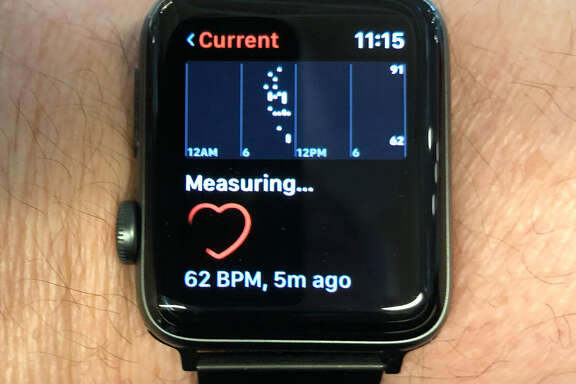 An Apple Watch can monitor heart rates.