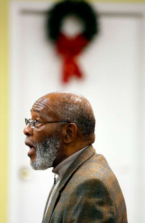 Amos Brown from the NAACP speaks at a community meeting in 2015. He has lodged a complaint alleging members of the Board of Supervisors met illegally to plan Mark Farrell's installation as mayor. Photo: Connor Radnovich, The Chronicle