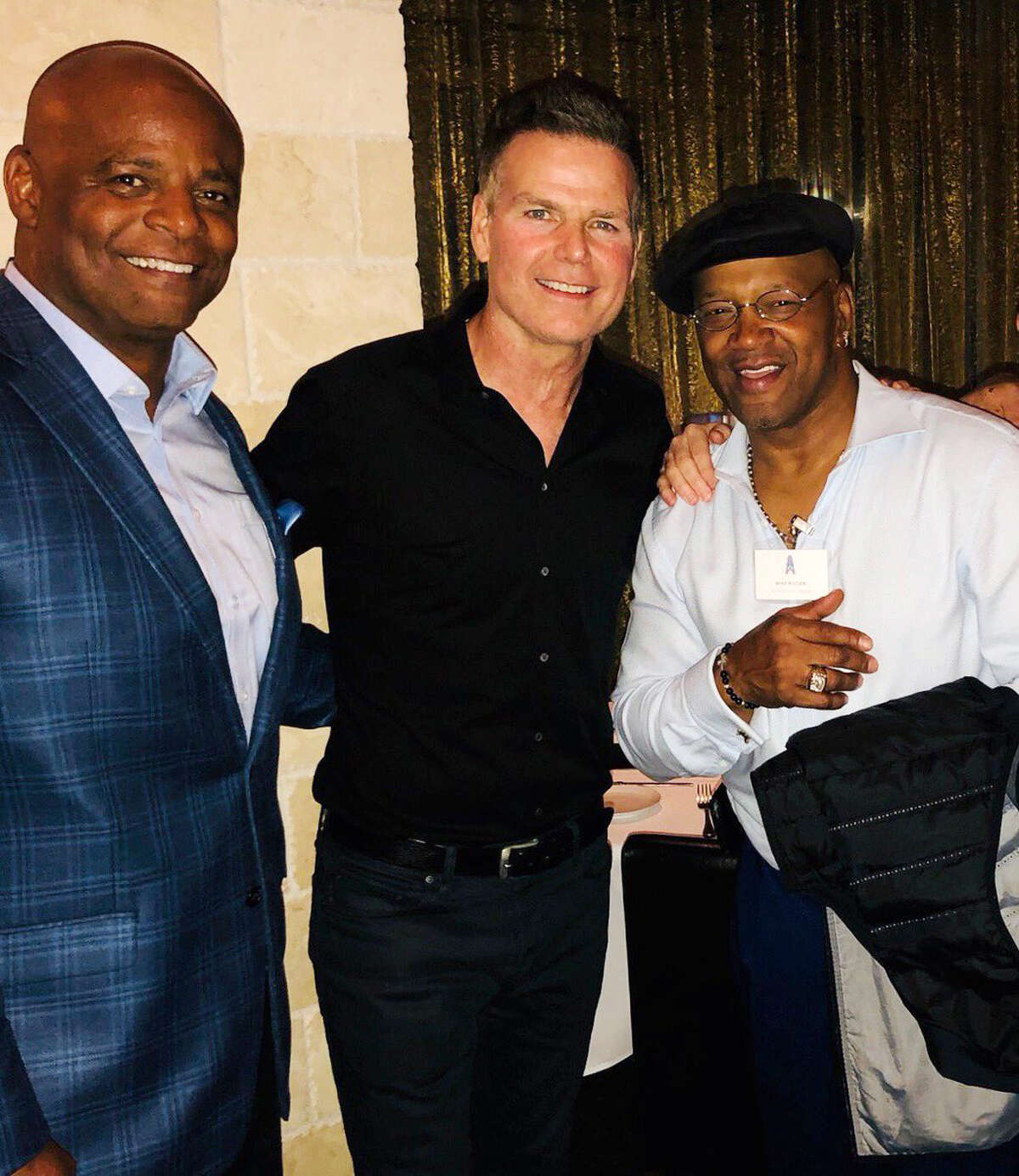 Warren Moon, Bo Eason and Mike Rozier at the Houston Oilers reunion.