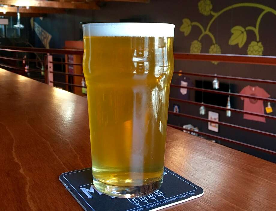 Social Brewing's Kim Sturdavant is widely credited with pioneering the beer style. Pictured is one of its brut IPAs, Puttin' on the Spritz. Photo: Photo Courtesy Of Social Brewing