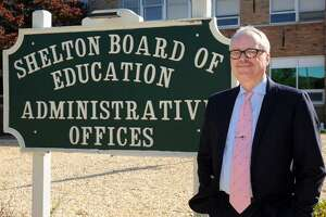 Shelton's new superintendent, Christopher Clouet, who will take over at the first of the year, in Shelton, Conn. Oct. 8th, 2015.