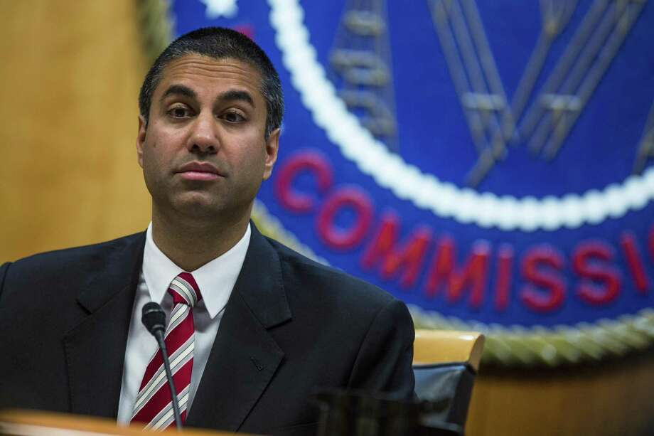 Federal Communications Commission Chairman Ajit Pai in November 2017 in Washington, D.C. On Friday, March 23, 2018, the FCC co-sponsors a Washington forum on it and the Federal Trade Commission can better thwart robocalls. Photo: Zach Gibson / Bloomberg / © 2017 Bloomberg Finance LP