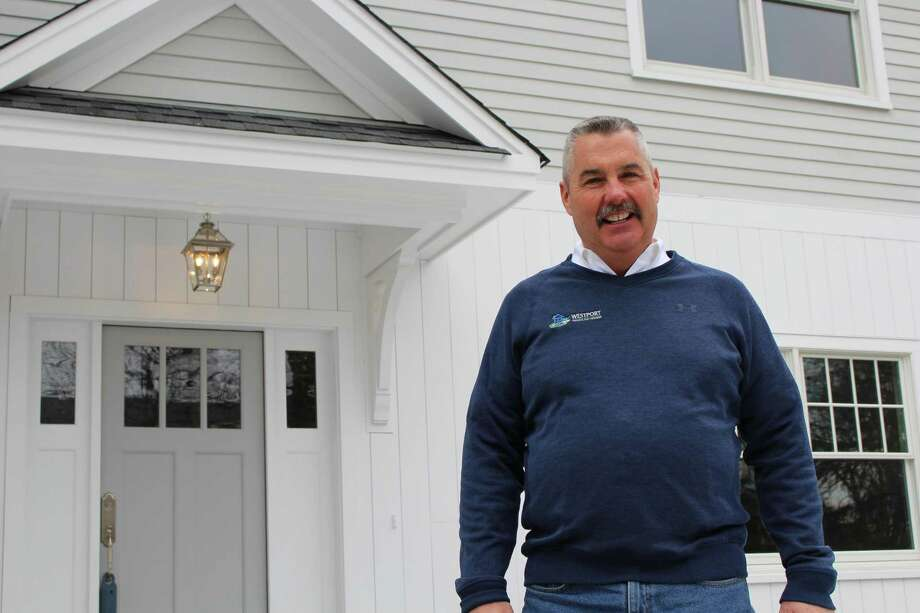 Jim Hines, owner of Westport Modular Homes. Photo: Jordan Grice / Hearst Connecticut Media / Connecticut Post