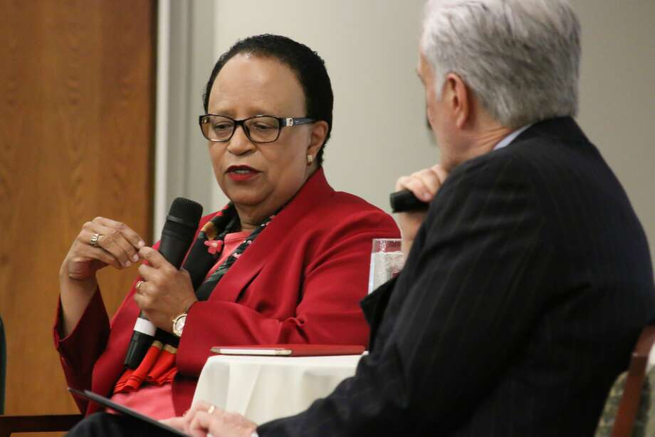 """Were you SEEN at the Times Union Leadership Luncheon, """"The Challenge of  Leadership in Higher Education"""" with Dr. Shirley Ann Jackson, president  of Rensselaer Polytechnic Institute? Photo: Amanda Case"""
