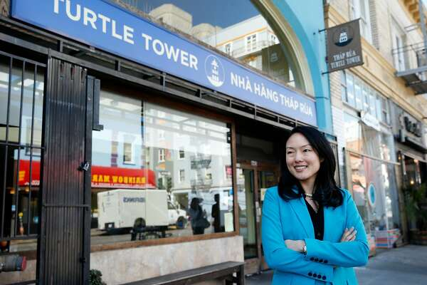 Jane Kim outside Turtle Tower, Tuesday, Feb. 20, 2018, in San Francisco, Calif. Kim, a Board of Supervisors member representing District 6, is running for mayor.