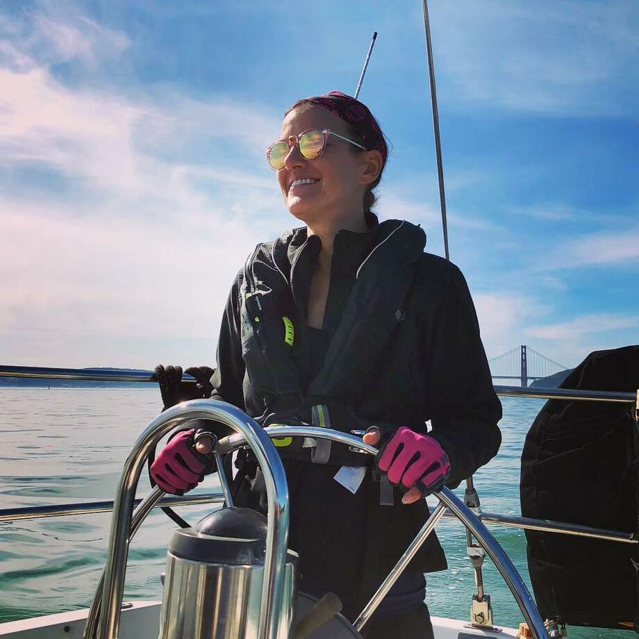 Maryl Ikaria quit her full-time job in IT to pursue a job more aligned with her passion: sailing. Photo: Instagram/sailing.novaturient