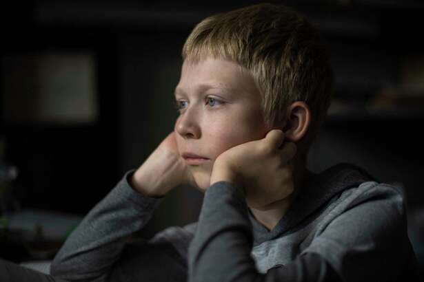 """This image released by Sony Pictures Classics shows Matvey Novikov in a scene from """"Loveless."""" The film, directed by Andrei Zvyagintsev, is nominated for an Oscar for best foreign picture. The 90th Oscars will be held on March 4. (Sony Pictures Classics via AP)"""