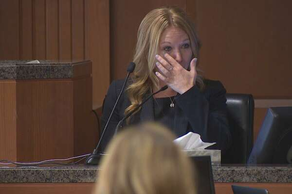 Meghan Verikas, the ex-girlfriend who was allegedly targeted to be killed in an elaborate murder-for-hire scheme testified Wednesday against Leon Jacob, her ex-boyfriend who is on trial, accused of masterminding the plot.