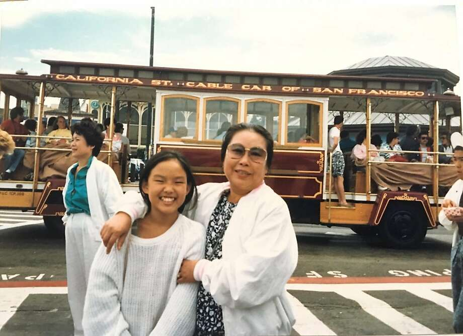 Jane Kim, now a San Francisco supervisor, visits the city for the first time with her grandmother, Jung Ok Yoon. Photo: Courtesy Jane Kim