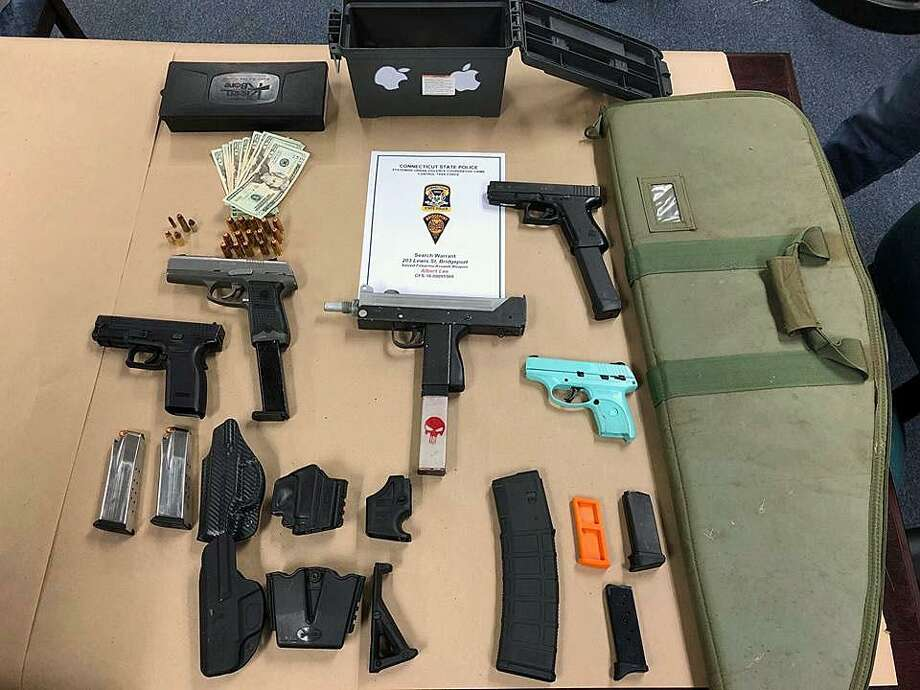 Albert Lee, 37, of Bridgeport, Conn., was charged with possession of an assault weapon, possession of high capacity magazines, six counts of criminal possession of a firearm, stealing a firearm and illegal transfer of a pistol/revolver on March 1, 2018. Photo: Contributed Photo / Connecticut State Police / Contributed Photo / Connecticut Post Contributed