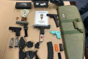 Albert Lee, 37, of Bridgeport, Conn., was charged with possession of an assault weapon, possession of high capacity magazines, six counts of criminal possession of a firearm, stealing a firearm and illegal transfer of a pistol/revolver on March 1, 2018.