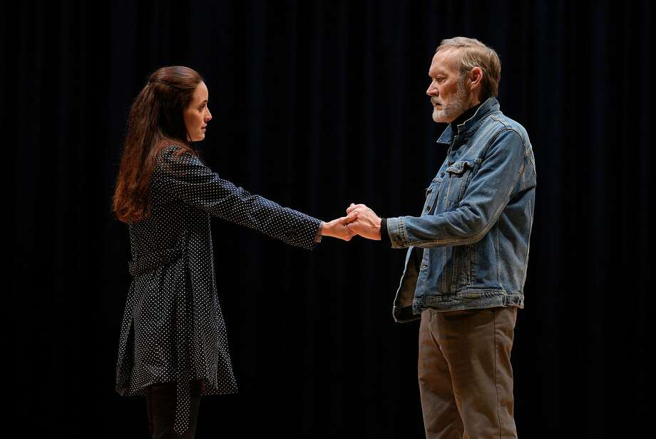 """Georgie Burns (Sarah Grace Wilson) and Alex Priest (James Carpenter) in American Conservatory Theater's """"Heisenberg."""" Photo: Kevin Berne, American Conservatory Theater"""