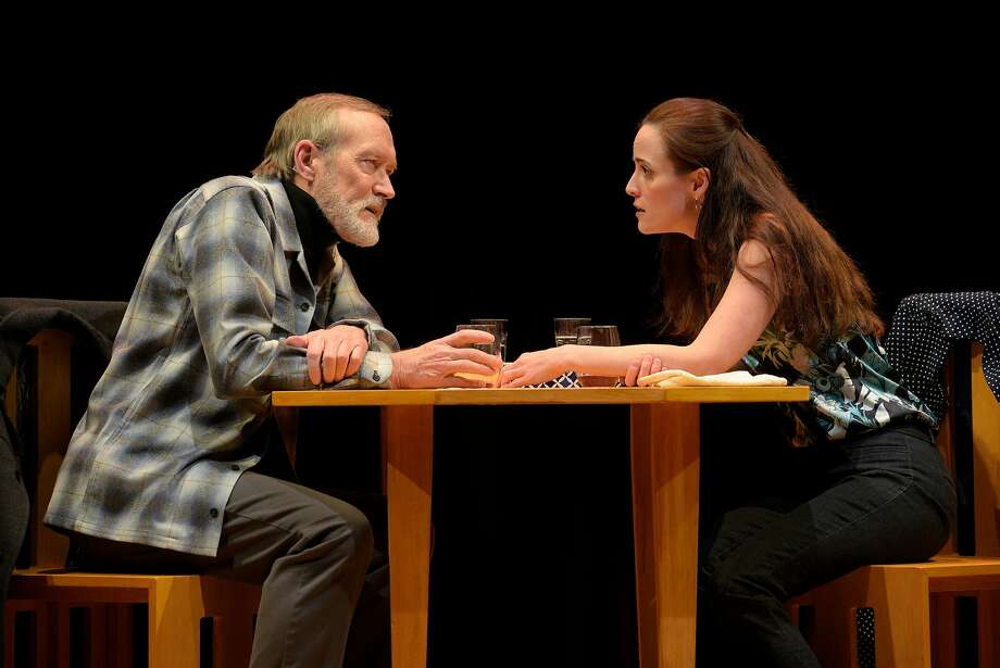 """Alex Priest (James Carpenter) and Georgie Burns (Sarah Grace Wilson) in American Conservatory Theater's """"Heisenberg."""" Photo: Kevin Berne, American Conservatory Theater"""