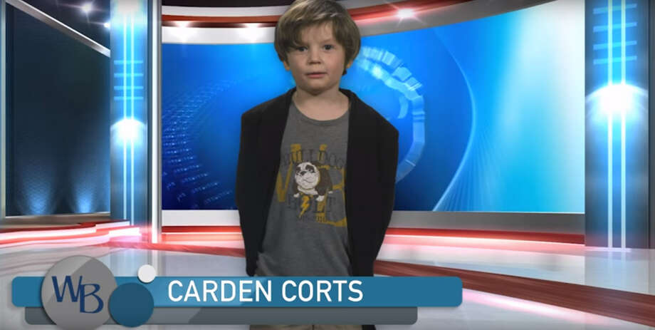 Nashville boy Carden Corts has won over the internet with a hilariously cute weather forecast he produced for school. Photo: Charlie Corts/YouTube