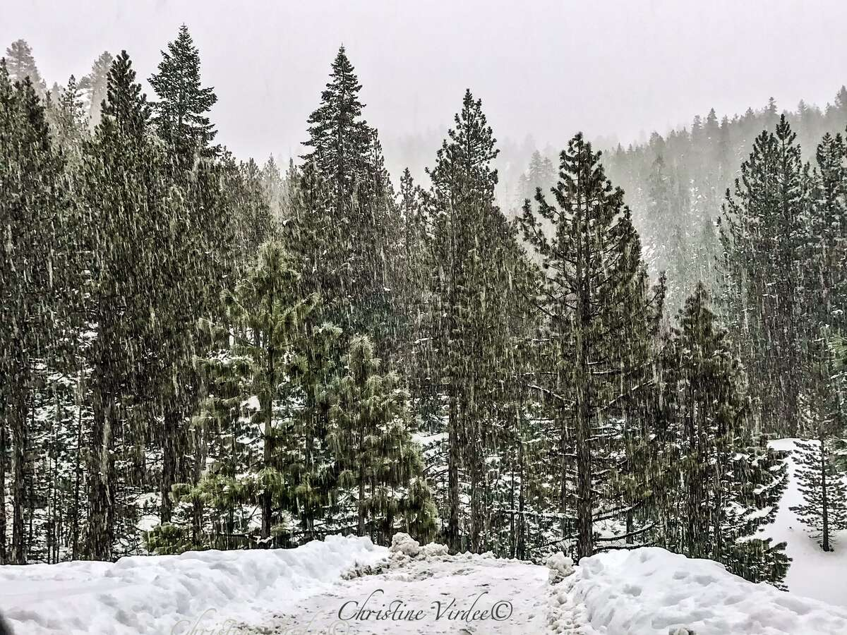 """Rain poured in Lake Tahoe as an atmospheric river-driven storm known as a """"pineapple express"""" drenched the region."""
