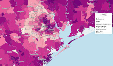 Maps show the geography of student debt in the Houston area ...