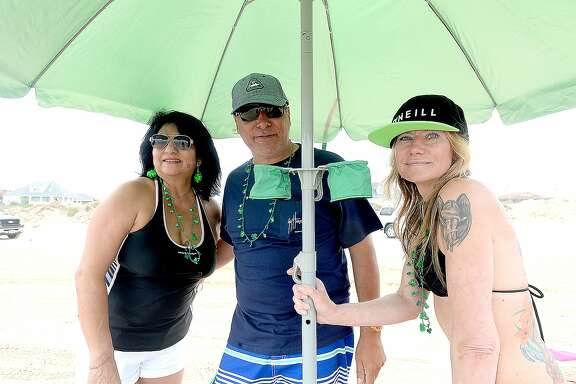 Annie Craig, Eddie Pena and Cheryl Evans were at Crystal Beach on the last weekend of spring break for many area students and families. Photo taken Saturday, March 17, 2018 Kim Brent/The Enterprise