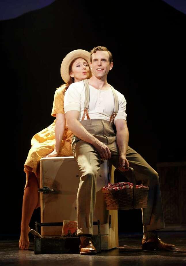 "Carmen Cusack and Paul Alexander Nolan in TUTS' ""Bright Star."" Photo: Joan Marcus / ©2015 Joan Marcus"