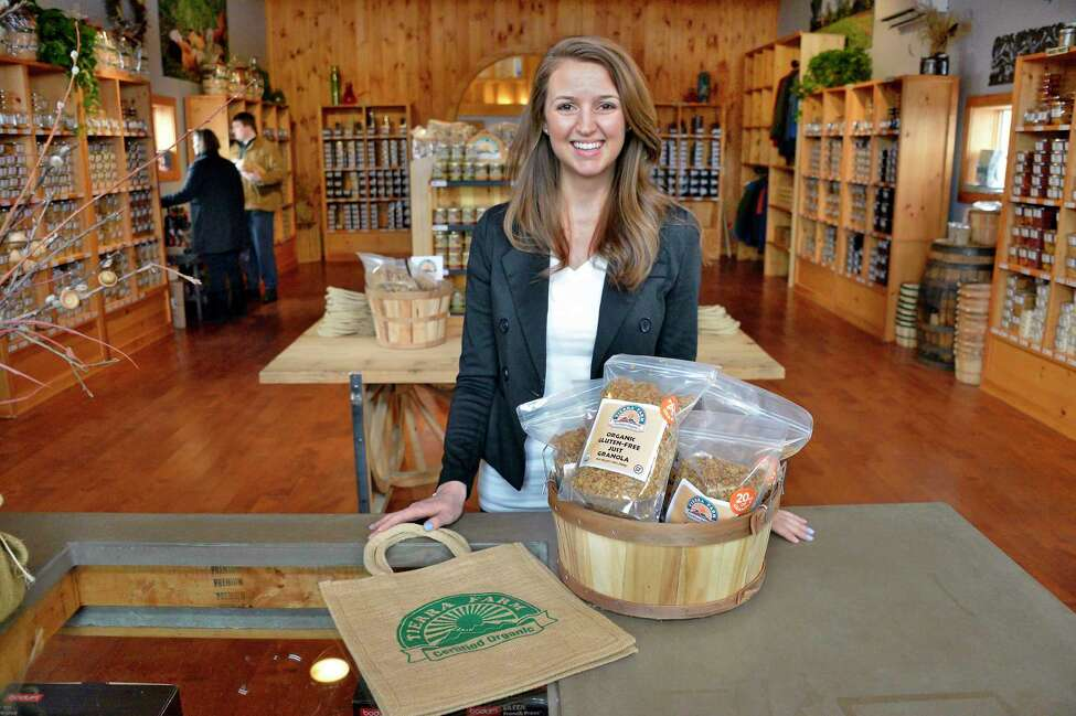 Tierra Farm's Kristi Jones in their retail store Friday March 9, 2018 in Valatie, NY. (John Carl D'Annibale/Times Union)