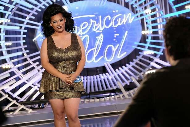 """San Antonio's big-voiced drag queen Ada Vox chats with the """"American Idol"""" judges about her bigger-than-life transformation before singing her heart out. See how she fares at 7 p.m. Sunday on ABC."""