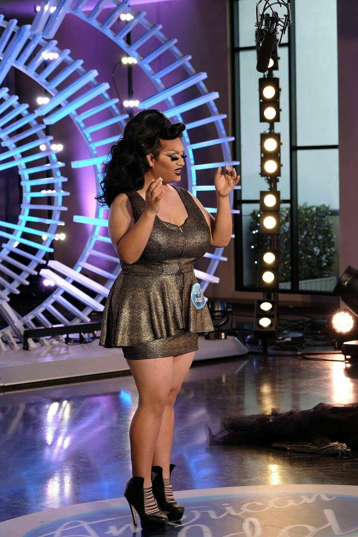 """San Antonio's big-voiced drag queen Ada Vox belted a bluesy, powerful rendition of '60s hit, """"House of the Rising Sun,"""" on ABC."""