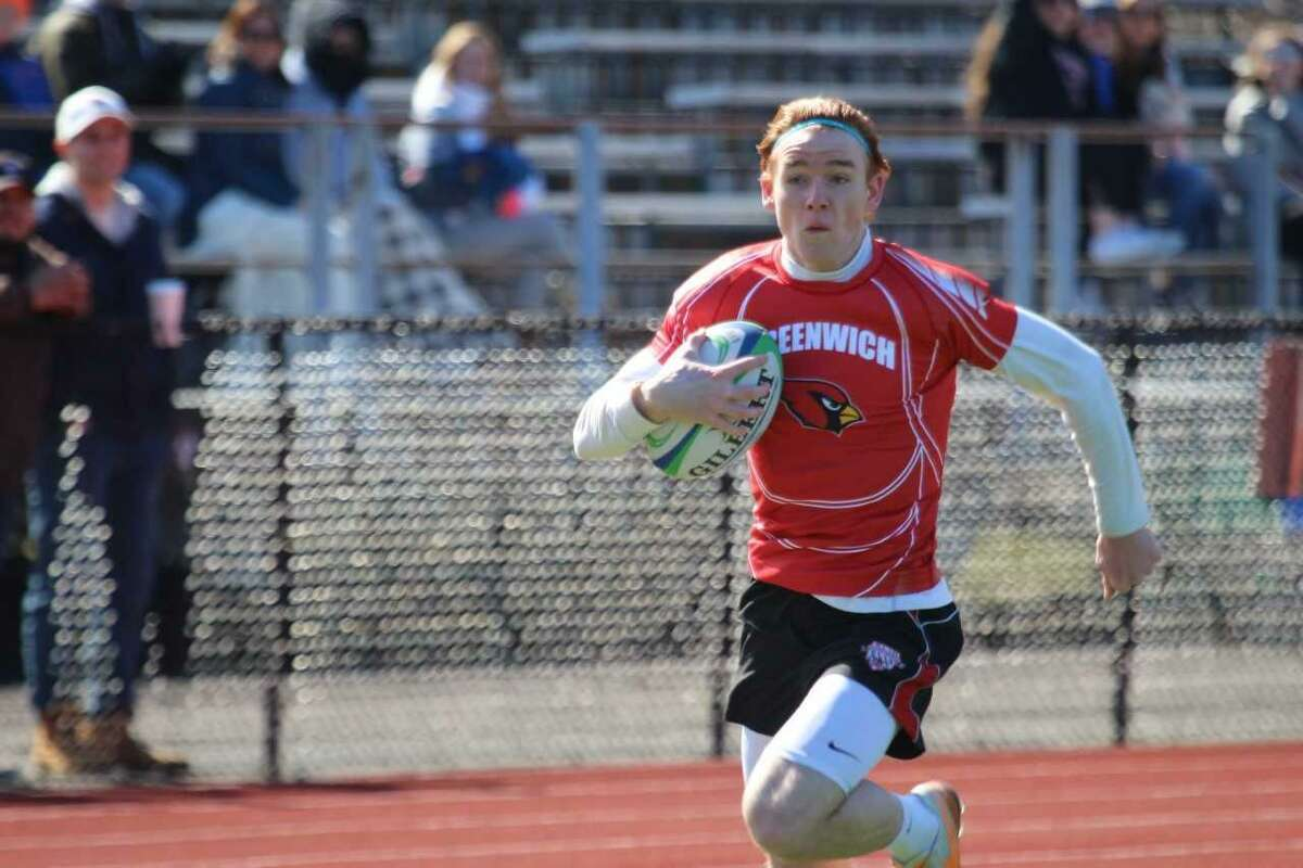 Bennett Tiedy is one of the senior captains of the Greenwich High School rugby team, which is ranked fifth in the nation.
