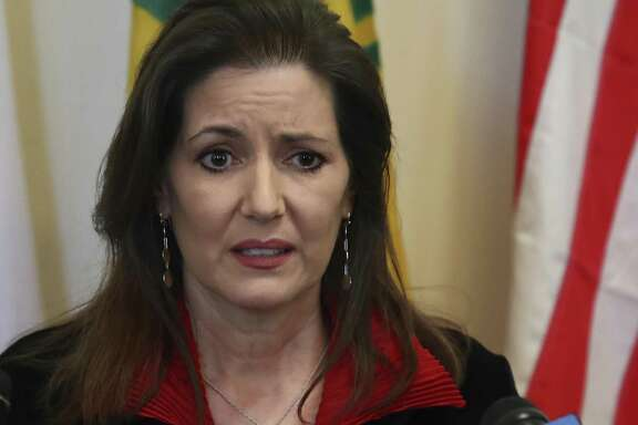 Oakland Mayor Libby Schaaf on March 7. It turns out that ICE officials claim that Schaaf's warning to her community about impending raids did not allow 800 criminal immigrants to evade capture. An ICE spokesman has quit over being asked to mislead the public on this.