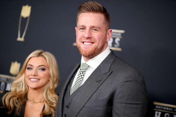 Kealia Ohai and NFL Player J. J. Watt attend the NFL Honors at University of Minnesota on February 3, 2018 in Minneapolis, Minnesota.