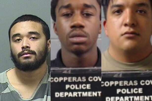 From left to right: Andrew Sommervold, 21; Jamiroquai Ejiawoko, 17; and Joshua Vega, 23. All were arrested for the fatal shooting of a 17-year-old Texas boy, authorities said. A female juvenile was also arrested in Vallejo in connection to the slaying. Her identity was not released.