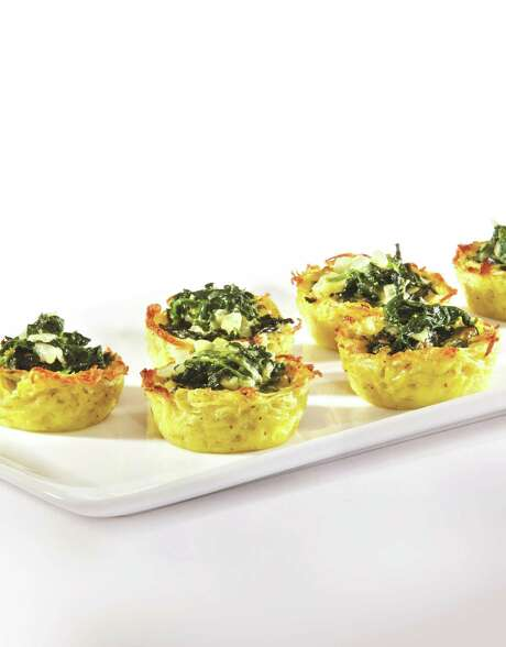 "Spinach Nests Photo: Reprinted With Permission Of ""A Taste Of Pesach 2"" ( Artscroll /Shaar Press)"