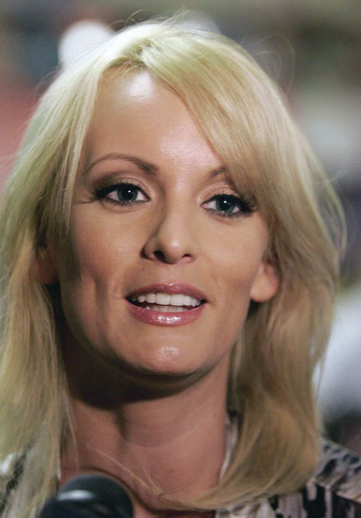 The porn actress Stephanie Clifford, known as Stormy Daniels, is challenging the arbitration clause in nondisclosure agreements involving an alleged affair with President Donald Trump. Trump has denied the affair.