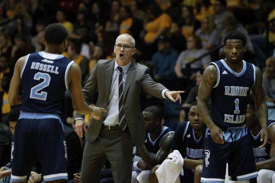 Rhode Island men's basketball coach Dan Hurley is reportedly close to signing a deal to take over as coach at UConn. Photo: Chris Szagola / Associated Press / FR170982 AP
