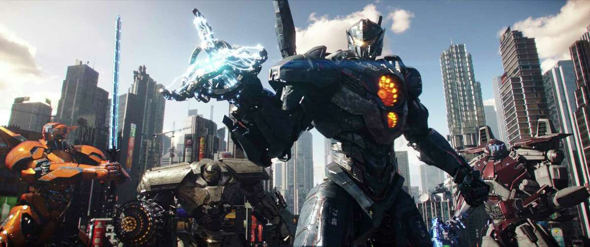 """It's an epic - or some would say mediocre - metal melee when the Jaegers once again battle the Kaiju in """"Pacific Rim Uprising."""""""