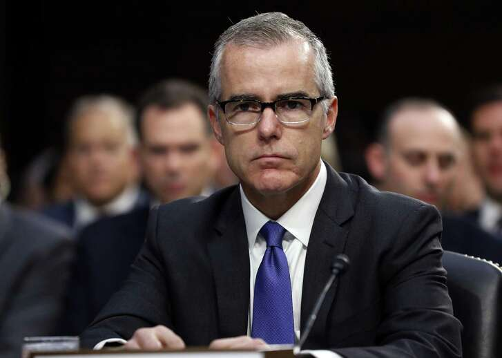 Acting FBI Director Andrew McCabe appears before a Senate Intelligence Committee hearing about the Foreign Intelligence Surveillance Act on Capitol Hill on June 7, 2017, in Washington.