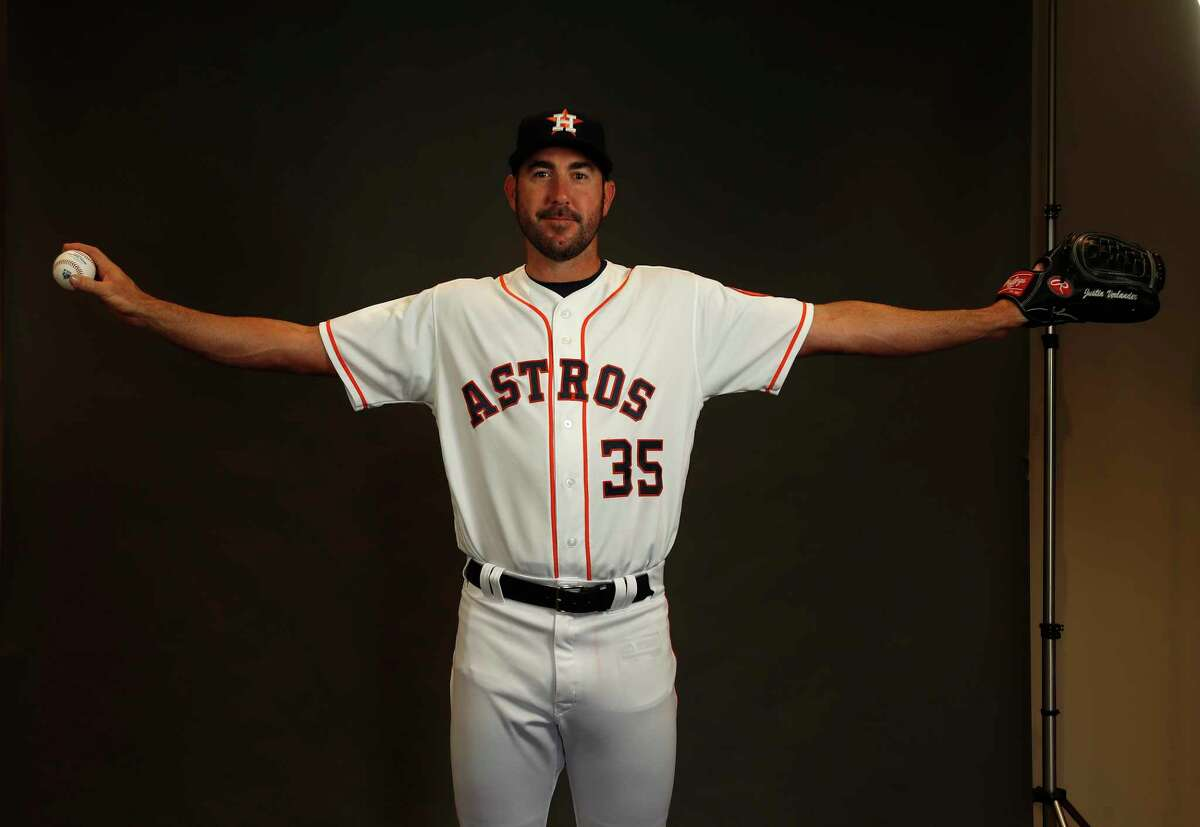 Houston Astros RHP pitcher Justin Verlander (35) during photo day at spring training at The Ballpark of the Palm Beaches, Wednesday, Feb. 21, 2018, in West Palm Beach. ( Karen Warren / Houston Chronicle )