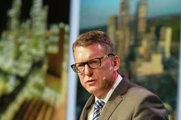 Mark Lashier, president and CEO, Chevron Phillips Chemical, speaking at the IHS World Petrochemical Conference.   (For the Chronicle/Gary Fountain, March 21, 2018)