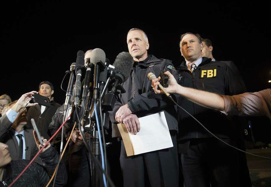 The suspect in a string of bombings in Austin is dead, interim Austin Police Chief Brian Manley confirmed early Wednesday, March 21, 2018. Photo: RICARDO B. BRAZZIELL, MBR / TNS / Austin American-Statesman