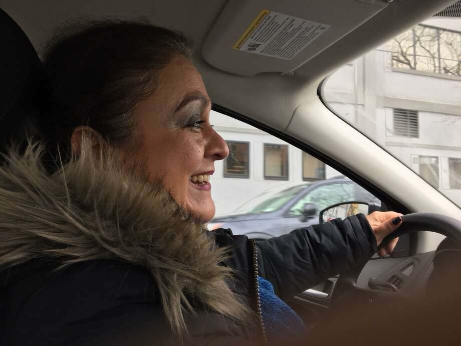 Neighborhood Specialist Carmen Mendez drives through Wooster Square looking for quality of life issues. Photo: Mary E. O'Leary/Hearst Connecticut Media