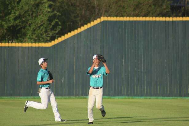 When not playing their positions in the outfield, Memorial's Tyler Juarez (left) and Jacob Hadley are among the district's top basestealers. But West Brook is running away with the team title for basestealing.
