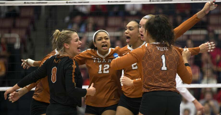 The endless saga of the rivalry between the University of Texas and Texas A&M will manifest itself once again April 4 when UT opens its spring volleyball season against the Aggies at Gregory Gymnasium in Austin. Photo: D. Ross Cameron/Special To The Chronicle