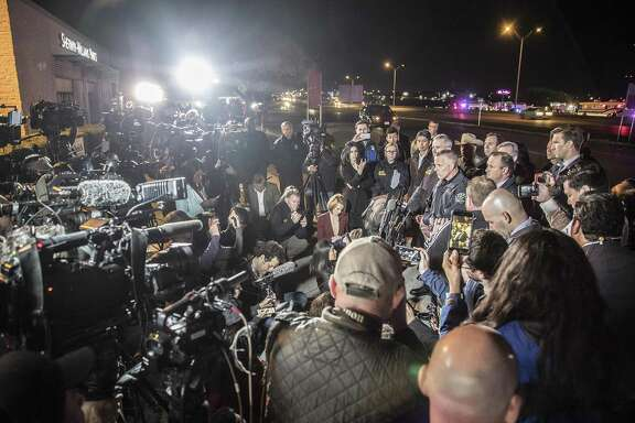 The suspect in a string of bombings in Austin is dead, interim Austin Police Chief Brian Manley confirmed early Wednesday, March 21, 2018. Investigators identified several leads but the case really broke in the past 24 to 36 hours, Manley said. (Ricardo B. Braziell/Austin American Stateman/TNS)