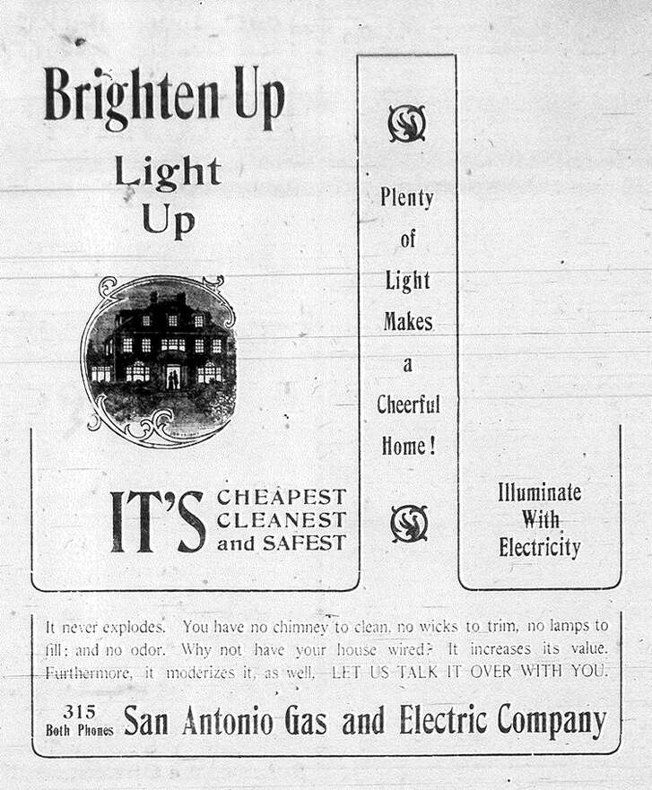 An ad in the Jan. 14, 1906, edition of the San Antonio Express: