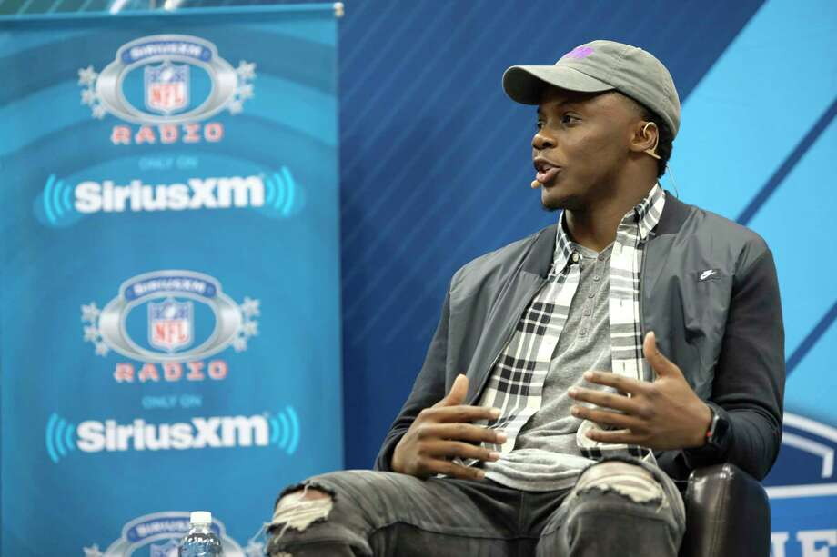 IMAGE DISTRIBUTED FOR NFL - Teddy Bridgewater, quarterback with the Minnesota Vikings appears on the NFL Talks Combine Edition live on Sirus XM NFL Radio at the NFL football scouting combine, Saturday, March 3, 2018, in Indianapolis. (Photo by AJ Mast/AP Images for NFL) Photo: AJ Mast / AP