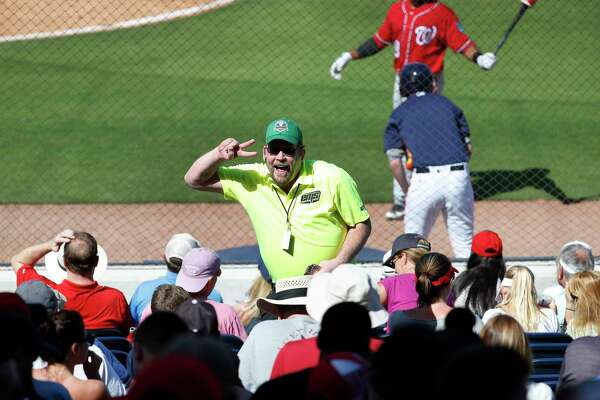 It's not gulp fiction: Steve Bauer will happily dance for the crowd at Fitteam Ballpark of the Palm Beaches if it means closing a beer sale.