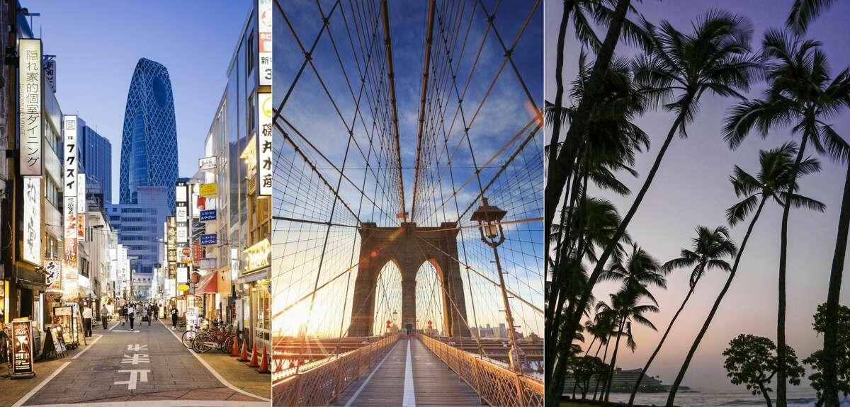 9. SFO > Tokyo, Japan9. SJC > New York9. OAK > Kailua-Kona, Hawaii