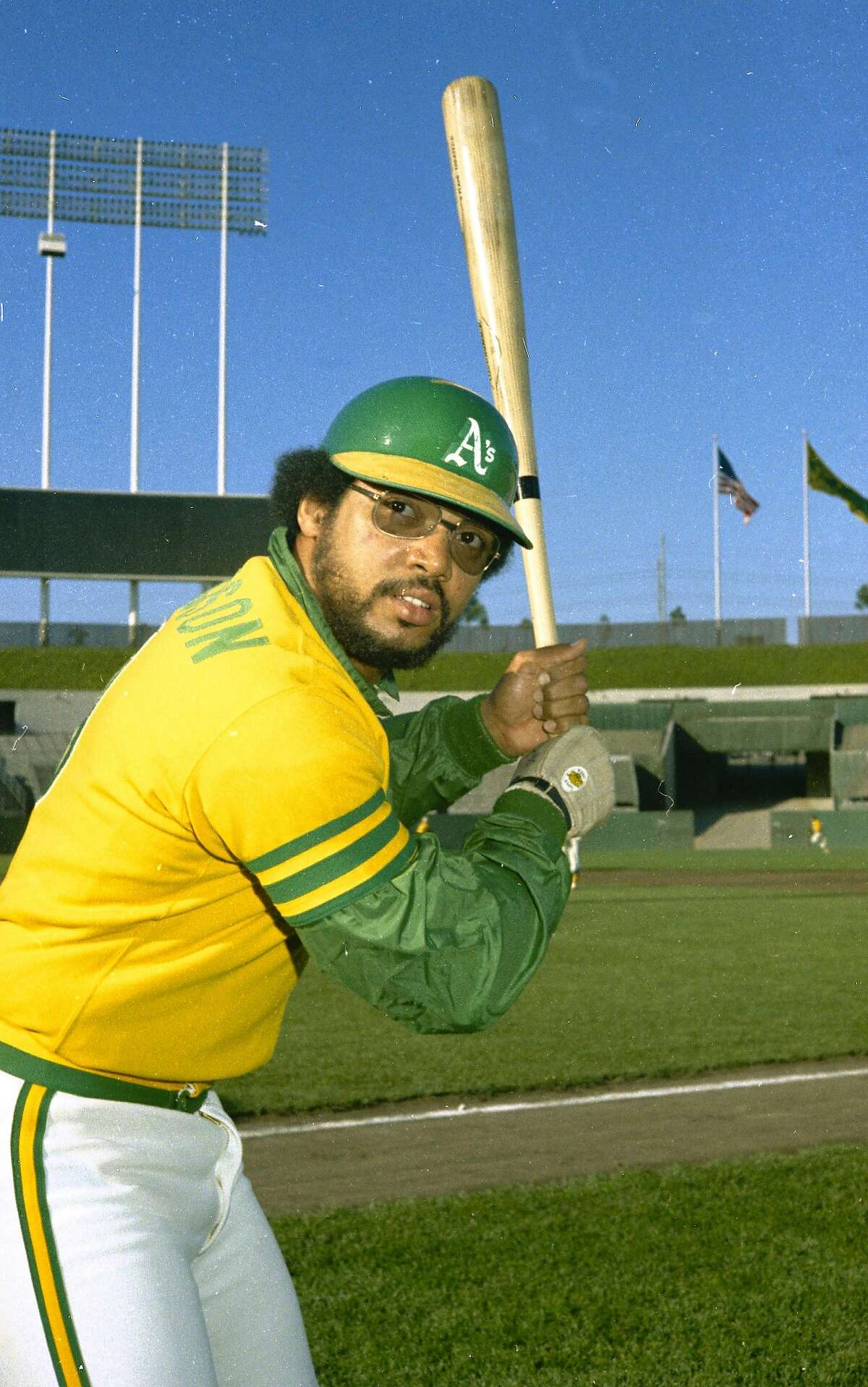Oakland A's star player Reggie Jackson is seen, 1973. (AP Photo)