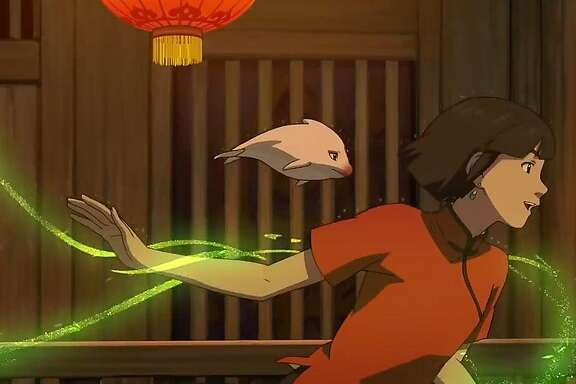 "A scene from the Chinese animated film ""Big Fish & Begonia."""