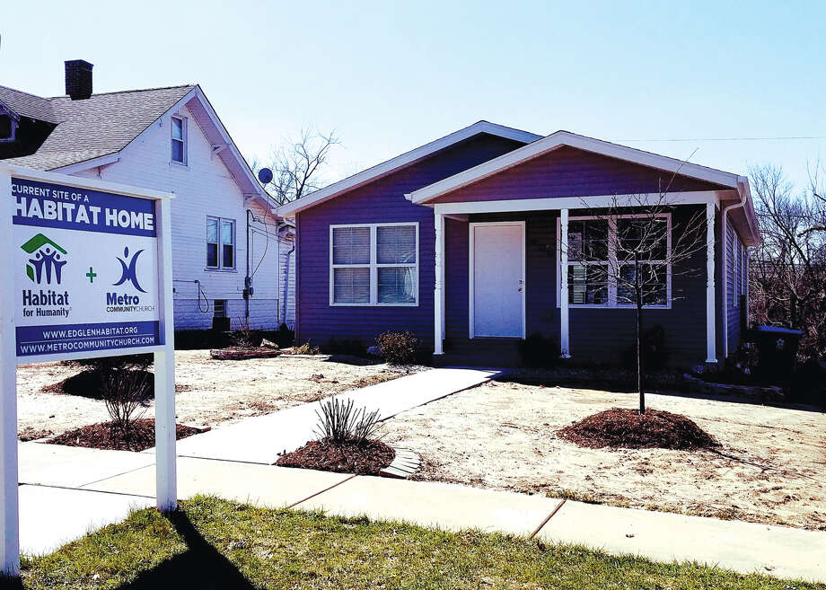 The latest house from the Ed Glen Chapter of Habitat for Humanity-Lewis and Clark Affiliate is on Highland Street in Edwardsville. New owner Paula Duane will receive the keys to the house at 9 a.m. on Saturday. Photo: Carol Arnett • Carnett.edwi@gmail.com