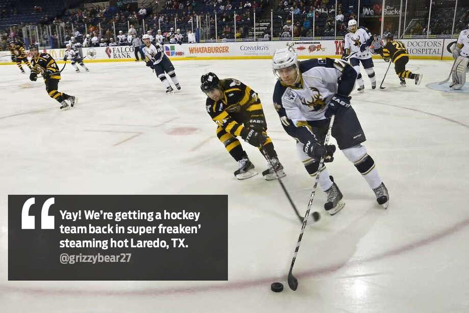"@grizzybear27: ""Yay! We're getting a hockey team back in super freakin' steaming hot Laredo, TX."" Photo: Twitter"